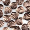 Sequins, brown, 13mm x 14mm, 190 pieces, 10g, Faceted designer shapes, Sequins are shiny, [CZP203]